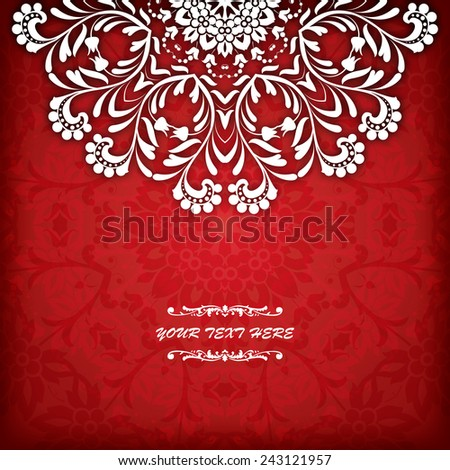 Abstract vector circle floral ornamental border. Vector ornamental border frame. Can be used for banner, web design, wedding cards and others - stock vector