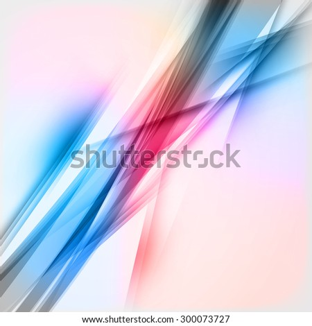 Abstract Vector Colorful Futuristic Wave Background. Blue and Red Colors - stock vector
