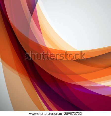 Abstract Vector Colorful Futuristic Wave Background. EPS10 - stock vector
