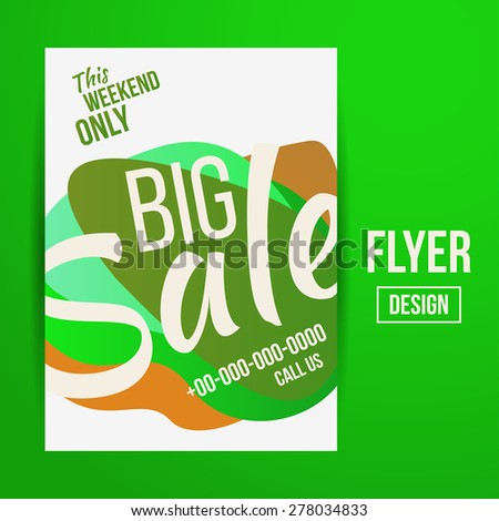 Abstract Vector Creative Sale Flyers, can be used as poster or banner design. For shopping. - stock vector