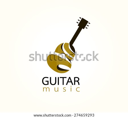 guitar logo stock photos images amp pictures shutterstock