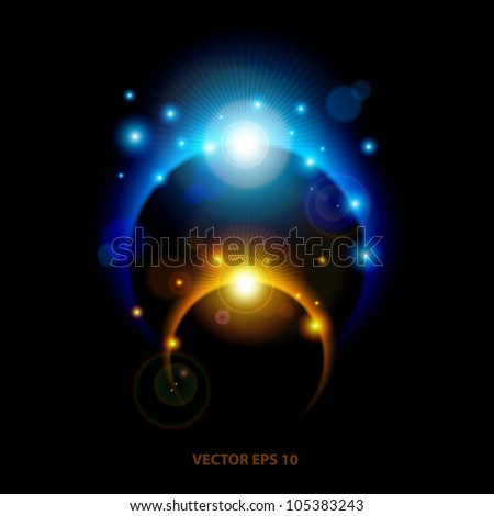 Abstract Vector Eclipse Background - stock vector