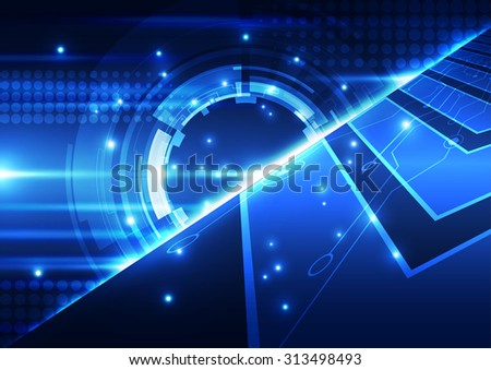 abstract vector engineering technology background, illustration - stock vector