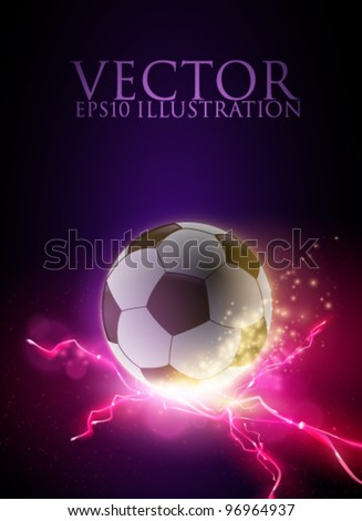 abstract vector football/soccer ball illustration - stock vector