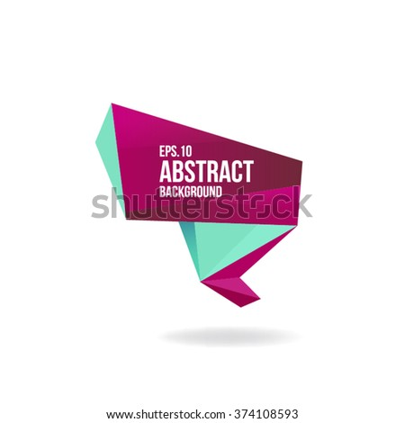 Abstract Vector Geometric Design Element. - stock vector