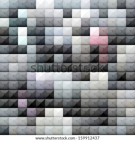 abstract vector glassy brick wall background - stock vector