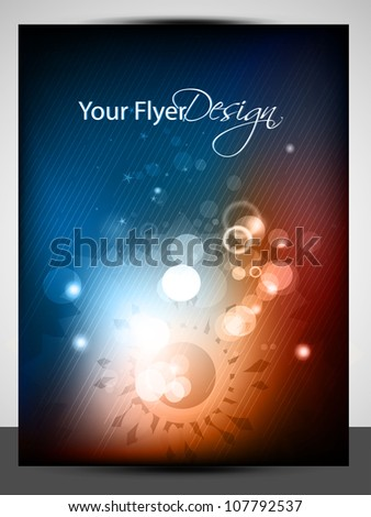 Abstract Vector glowing flyer or Cover page, EPS 10 - stock vector
