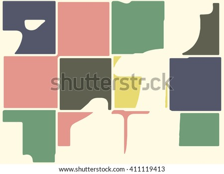 Abstract vector grunge background. Color composition of irregular geometric shapes created using original digital pattern. - stock vector