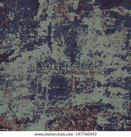 Abstract vector grunge background in four colors, no transparency - stock vector