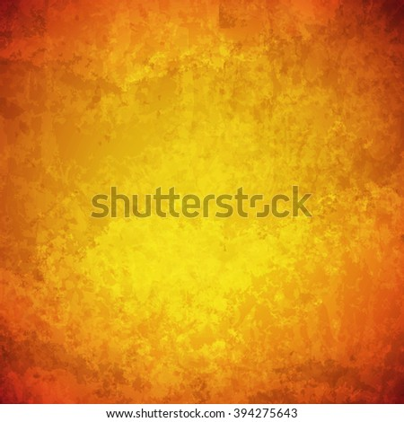 abstract vector grunge yellow background - stock vector