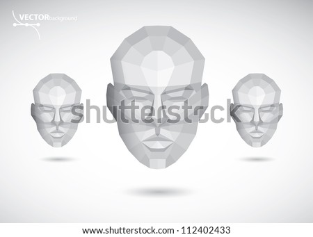 Abstract vector heads - stock vector