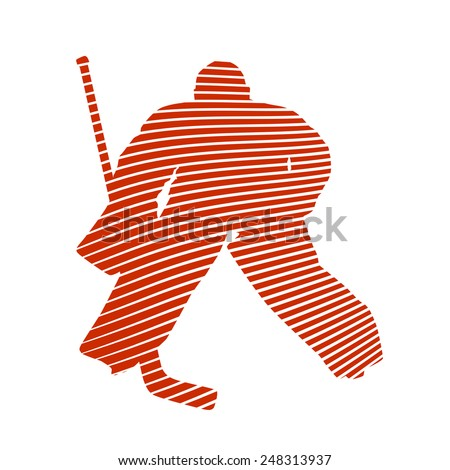 Abstract vector hockey goalie - stock vector