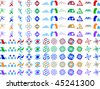 Abstract Vector Icon Design Element Set - stock vector