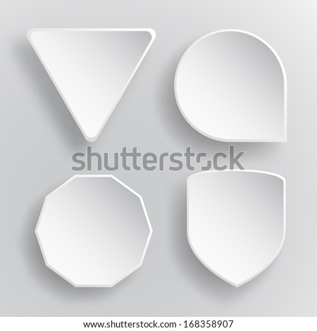 Abstract vector icon white colour on gray background - stock vector