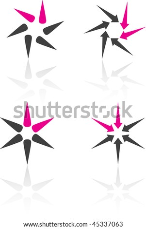 Abstract vector icons such logos. - stock vector