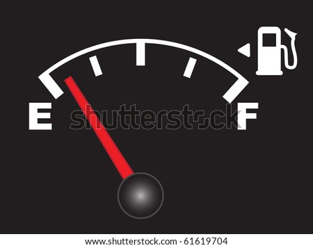 Abstract vector illustration of an empty fuel meter - stock vector