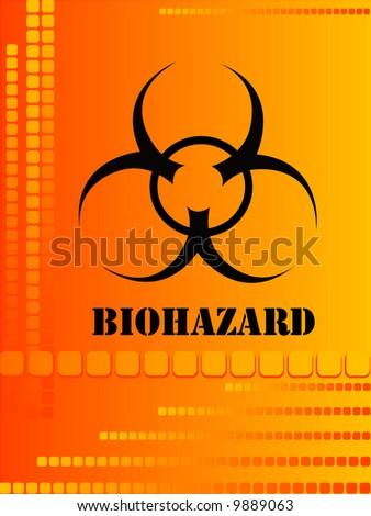 abstract vector illustration of bio hazard warning - stock vector