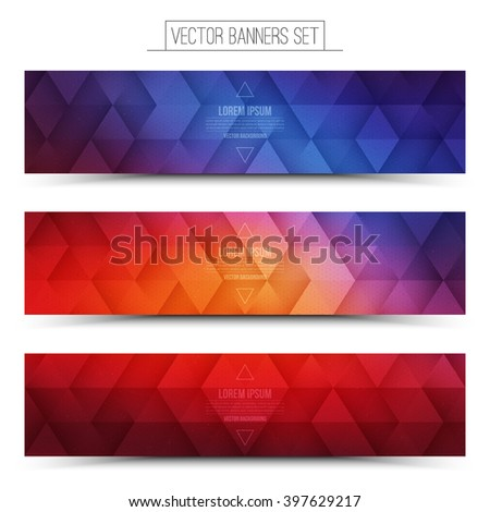 Abstract vector internet technology web banners set. Digital marketing. Business abstract vector. Design vector elements. Vector technological background. Retro style vector web banner - stock vector
