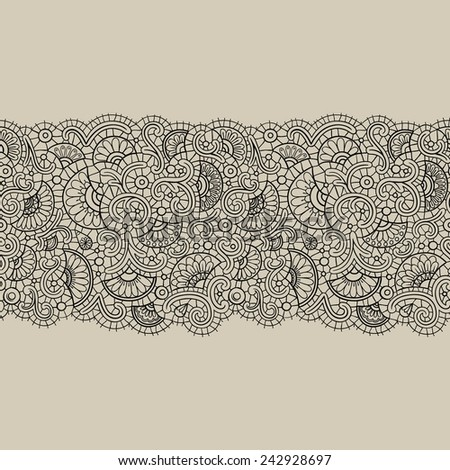 Abstract vector lace tape pattern. Can be used for your design of lingerie, cards, invitations, jewelry and other. - stock vector