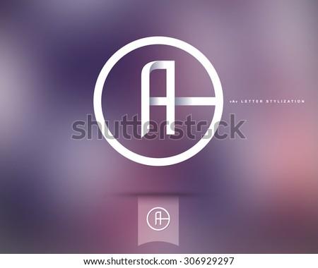 Abstract Vector Logo Design Template. Creative Concept Round Icon. Letter A Stylization  - stock vector
