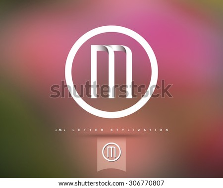 Abstract Vector Logo Design Template. Creative Concept Round Icon. Letter M Stylization  - stock vector