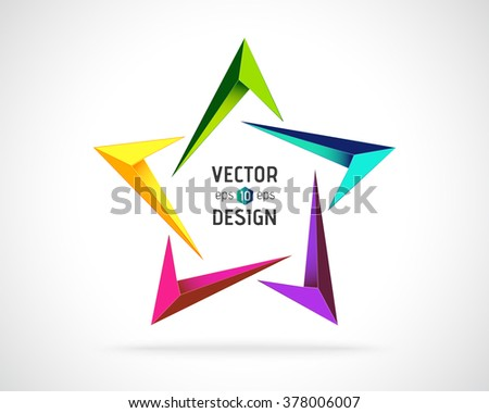 Abstract Vector Logo Design Template. Creative Star Concept Icon - stock vector