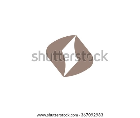 Abstract vector logo in a modern style. Sports goods and equipment. - stock vector