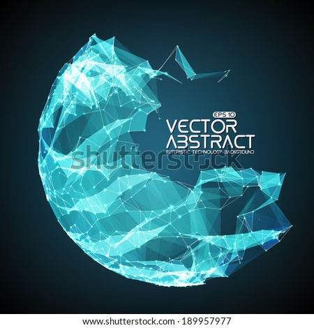 Abstract vector mesh background. Futuristic technology style. Elegant background for business presentations. - stock vector