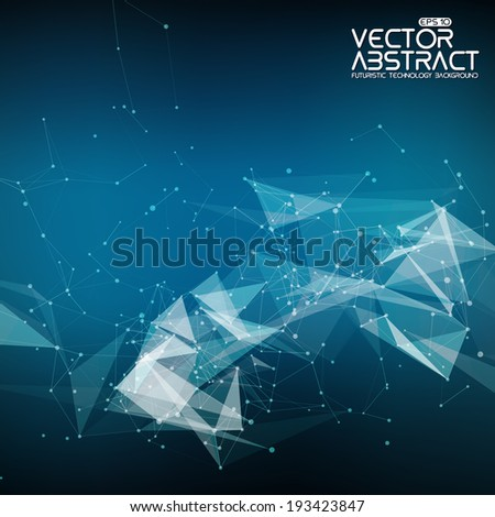 Abstract vector mesh background. Futuristic technology style. Elegant background for business presentations. Eps 10 - stock vector