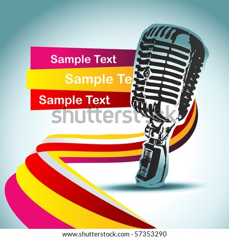 abstract vector mic background illustration - stock vector