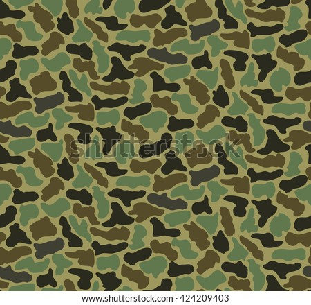 Abstract Vector Military Camouflage Background Made of Splash. Seamless Camo Pattern for Army Clothing. - stock vector