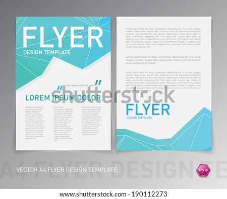 Abstract vector modern flyer / brochure design template.  - stock vector