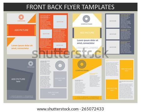 Abstract vector modern flyer / brochure design templates collection. Set of Flyer, Brochure Design Templates. - stock vector