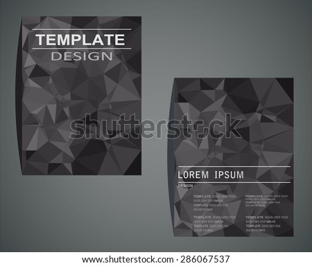 Abstract vector modern flyer / brochure design templates with  geometric triangular background - stock vector