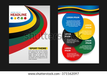 Abstract vector modern flyers brochure, booklet, annual report,design templates, infographic with white background in size a4. - stock vector
