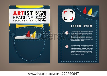 Abstract vector modern flyers brochure, booklet, annual report,design templates with white background in size a4 - stock vector