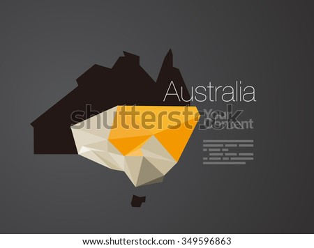 Abstract Vector Nation Map Background - Australia - stock vector