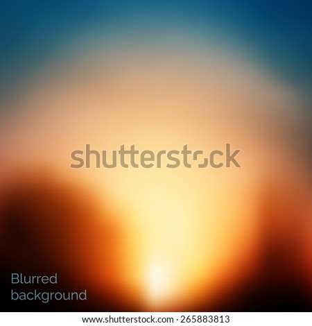 Abstract vector nature background with blurred effect. EPS10 vector illustration - stock vector