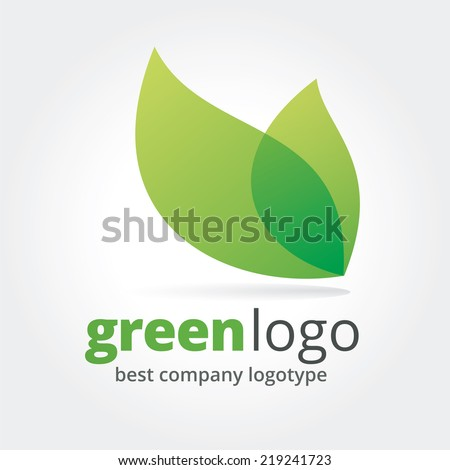 Abstract vector nature logotype isolated on white background - stock vector
