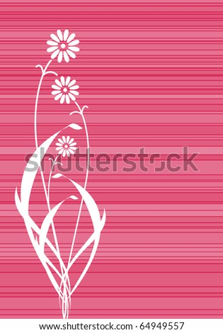 Abstract vector pink flowers lines cover - stock vector