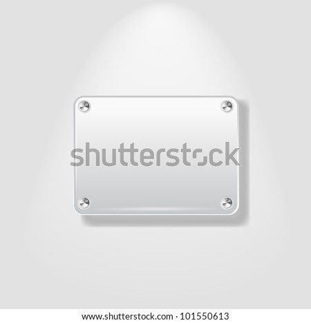 Abstract Vector Plastic Plate on White Background - EPS10 - stock vector
