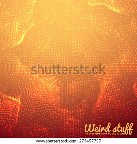 Abstract vector point mesh background. Futuristic technology style. Elegant background for business presentations. Flying debris. eps10 - stock vector