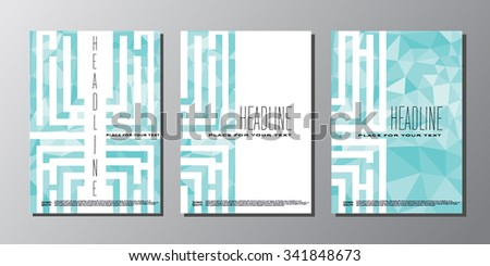 Abstract vector polygonal background template for your work: document, presentation, web and mobile applications, business infographic, illustration template design, site,cover, poster - stock vector