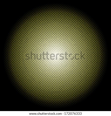 Abstract vector radial dots formation. - stock vector