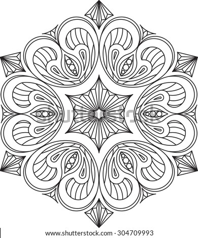 Abstract vector round lace design - mandala, decorative element - stock vector