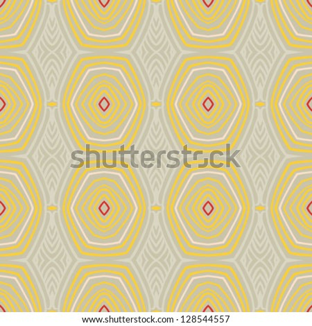abstract vector seamless pattern with lines similar to 50s and 60s wallpapers design. Concept of home, vintage, coziness; for spring fashion, wrapping paper, website background. - stock vector