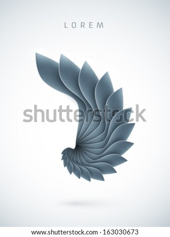 abstract vector shell shape  - stock vector