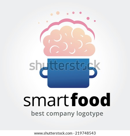 Abstract vector smart food logotype concept isolated on white background - stock vector
