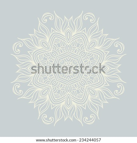 abstract vector snowflake background  - stock vector