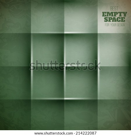 Abstract vector square background like bookshelf or empty shelf - stock vector